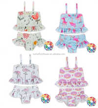 Ruffle senza maniche top bloomer set <span class=keywords><strong>Infantile</strong></span> Neonate Costume <span class=keywords><strong>Da</strong></span> <span class=keywords><strong>Bagno</strong></span>