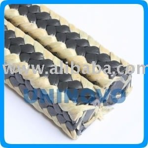 Graphited PTFE packing with Aramid Corners