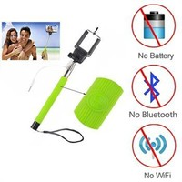 Extendable Wired Selfie Stick Monopod For iPhone 4S 5 5S 6 6 plus Samsung S5 S6 Mobile Phone