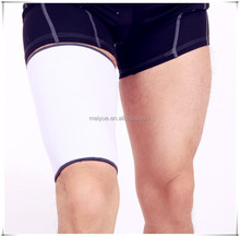 Magnetic Resistant White Knitted Nylon Elastic Thigh Leg Support