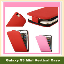 Mobile Phone Cases Leather Flip Vertical Cover Magnetic Closure Capas Para Celular for Samsung Galaxy S3 Mini for Grand Duos