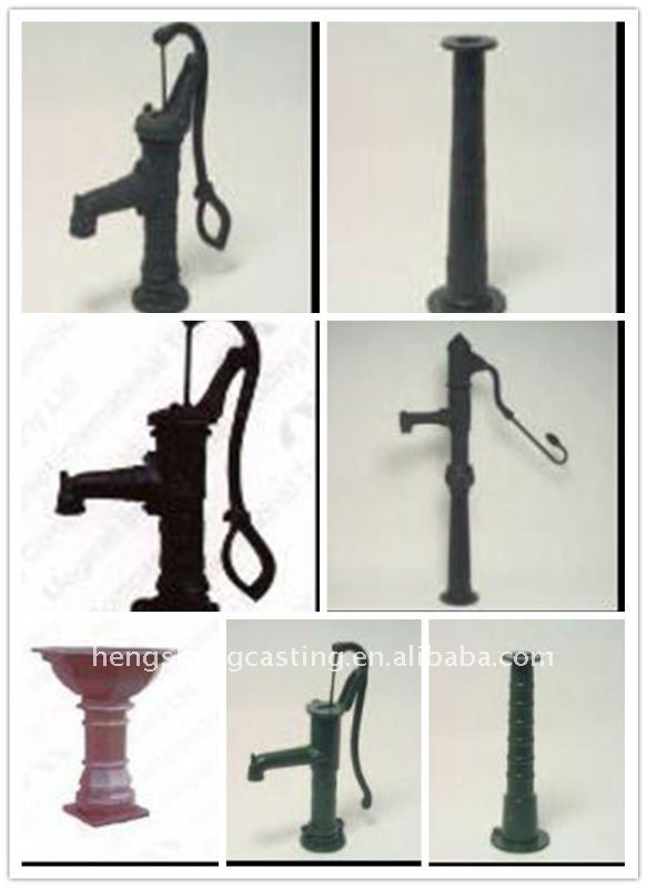 cast iron antique manual hand water pump