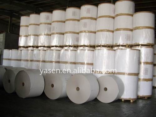 high quality white cardboard in rolls