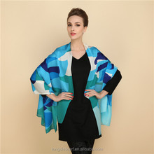 Cheap women printed long silk satin scarf vietnam silk scarves