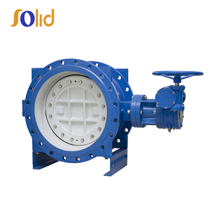 Ductile iron motorized lp butterfly valve body