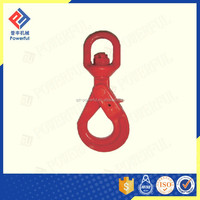 China Factory Supply G80 U.S. Type Drop Forged Self Locking Safety Steel Rope Hook