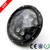 Jeep 7 inch headlamps 75w led with day lights Halley motorcycle off-road car/auto modified headlights
