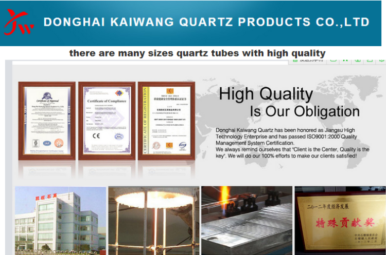 High temperature curve quartz glass plate
