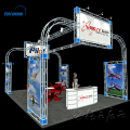 Detian offer aluminum truss exhibition booth with tension fabric display expo booth