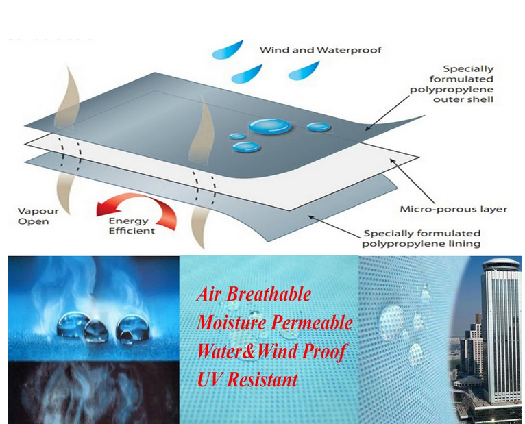 Kedebon moisture breathable waterproof <strong>membrane</strong> for roof