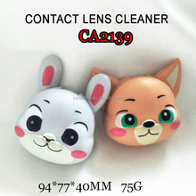 CA2139 zootopia rabbit and frog cartoon 3d colorful contact lens case
