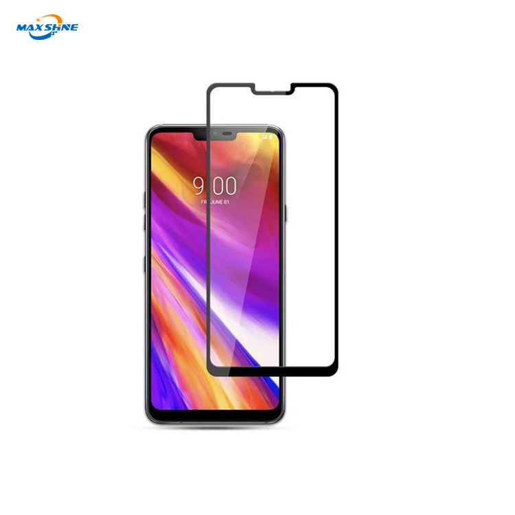 Maxshine 2.5D Full Coverage Silk Print Tempered Glass Screen Protector For Lg G8