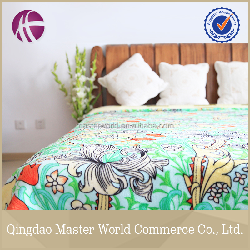 buy wholesale direct from china branded custom fleece blanket