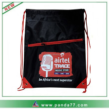 Hot Selling Promotional Budget Sports Drawstring Bags with Mesh Pocket
