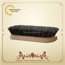 Hot selling REACH wooden shoe cleaning brush horse hair brush