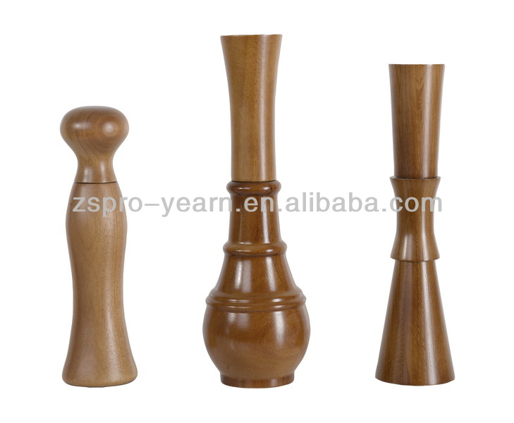 Wood Manual Salt Pepper Mill Grinder with Different Shapes and Ceramic or Alloy Grinding Core