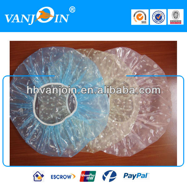 Disposable Clear Ear Shower Cap for Hotel Use