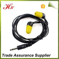 noise cancelling rebound yellow radio ear plugs