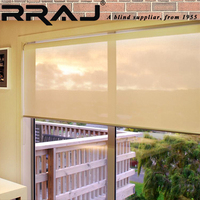 RRAJ Office Fabric Motorized Window Roller Blinds Curtain