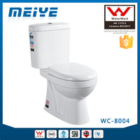Two-Piece Washdown Cheap Watermark Toilet with Geberit or R&T Fitting Soft Cover, Australian WELS WC-8004