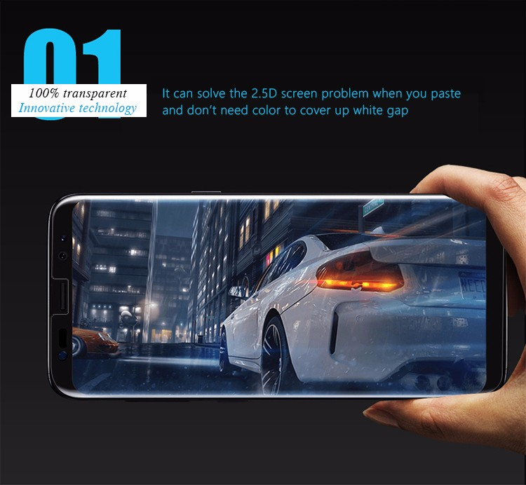 Itop 360 degree full coverage utral thin soft tpu yellow nano screen protector for Samsung s8