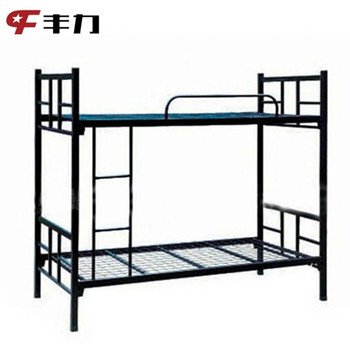Metal frame steel double deck bed buy double deck bed for Room design double deck