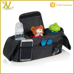 2015 wholesale baby stroller organizer, cheap hanging baby bag with cooler compartment