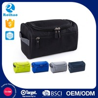 Roihao wholesale newest waterproof travel makeup bags, hanging men cosmetic bag