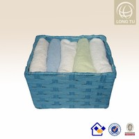 woven paper cotton towel storage basket with holder