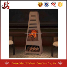 Outdoor Wood Burning Chiminea with Large Fire Bowl Spark