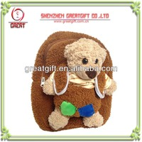 Customized teddy bear school bag plush toy, children gift fancy plush toys