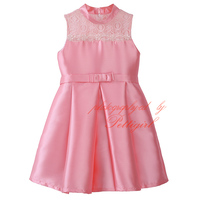 2016 Summer Pink Baby Girl Wedding Dress Cute Hollow Vest Dresses Fancy Children Clothing GD81020-4L