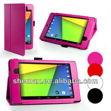 Bag Wholesale China Cover Google Nexus 7 2nd Stand Folio Leather Case