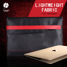 2016 new design carbon fiber combined with genuine leather handbag sleeve for laptop for macbook 13.3 inches and for ipad