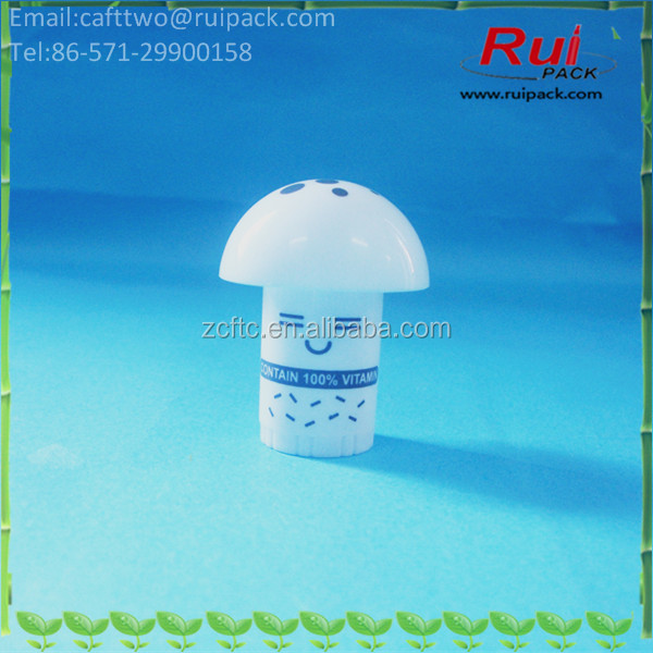 MIni 2.5g Mushroom shape lip cream tube/container for children, cute small size lip balm tube