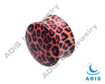 Acrylic leopard ear gauges plugs adhesive body jewelry factory