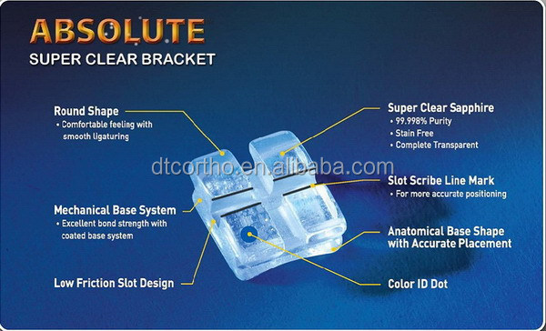Customized High-quality Sapphire Orthodontic Brace