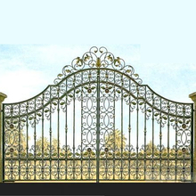 Customizable yard decoration forged wrought iron main gate design
