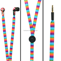 funny phone accessories Stereo 3.5mm In Ear Headphone waterproof shoelace Earphone Earbud for iPhone iPod Samsung PC