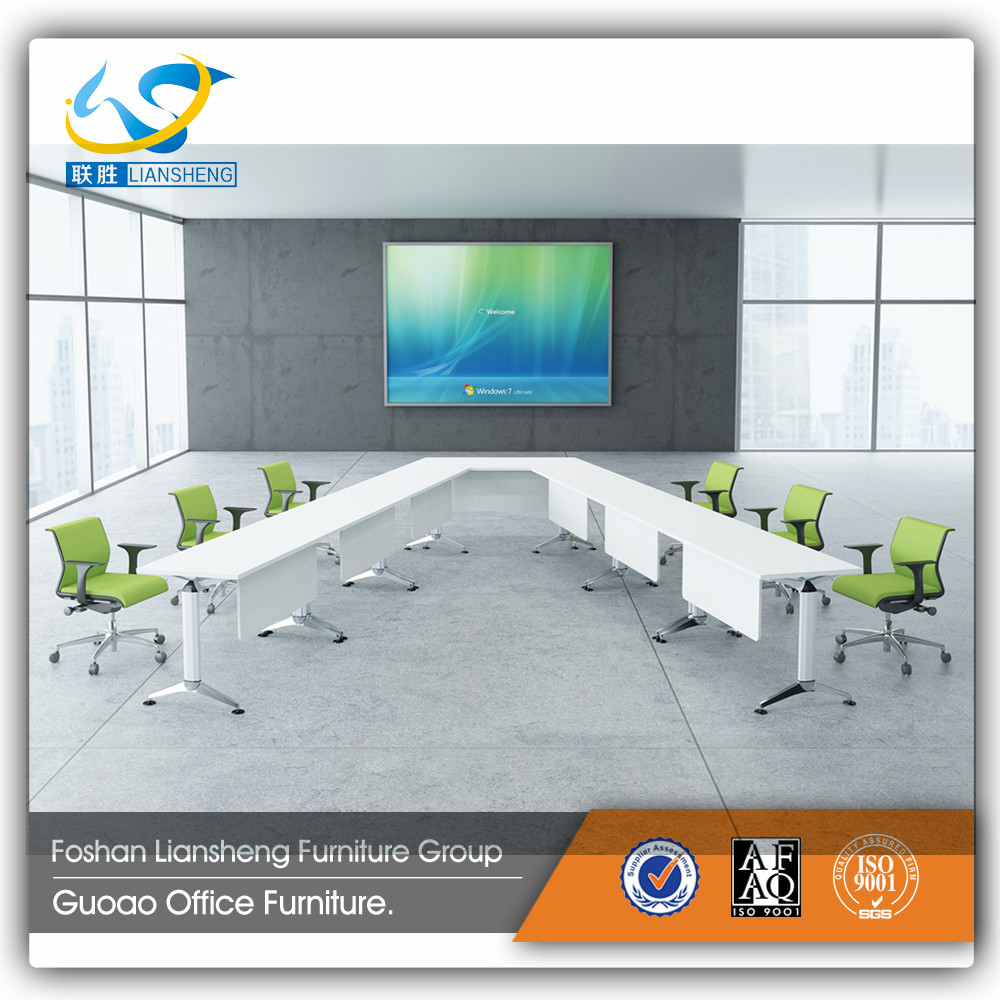 Trendy Design Aluminum Legs Conference Table with White Table Top