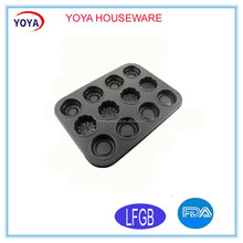 12 cup egg tart/pumpkin shape/flower shape baking pan 12 cup cupcake muffin pan