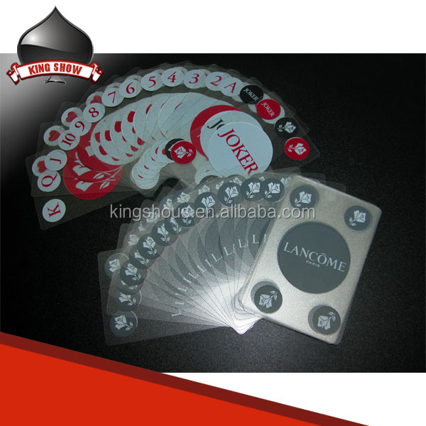 Transparent pvc poker playing cards clear