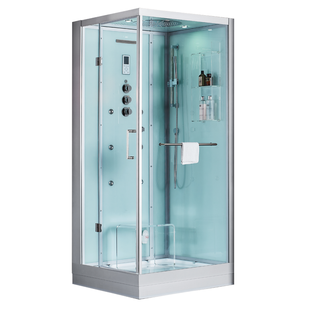 Douche Cabine Tempered Glass Rectangle Shower Enclosure/shower Room ...