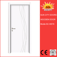 SC-W078 Durable Eco-Friendly Interior Solid Pine Door