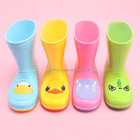 Manufacturer cheap cute animal candy color pvc children rain boot for kids