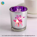 Laser engraving glass candle holder with wooden lid yufengcraft www.yufengcraft.cn