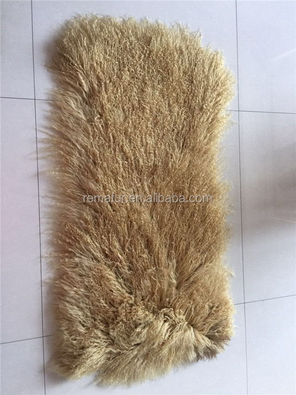 2017 Factory wholesale tibetan lamb fur plate real mongolian lamb fur for garment used real fur