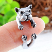 Dog Animal Wrap Rings for Men & Women and Girls Boys Adjustable Rings Fine Jewelry Resizable