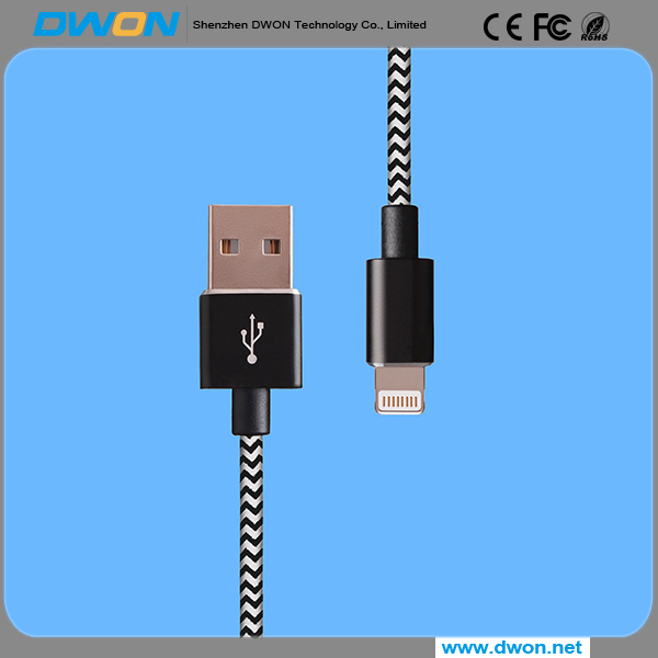 MFI Certifaction USB Data Cable for iPhone , Micro PET Charging Cable for iPhone On Promotion