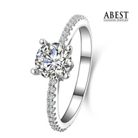 Fashion Wedding Ring Newest With CZ Sterling 925 Silver Rings Engagement Jewelry